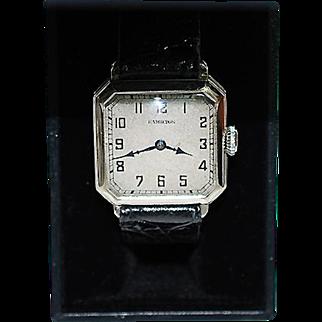 Vintage 14K White Gold Filled Hamilton Wristwatch