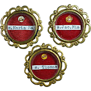Three Spanish Religious Pendants for Three Different Saints