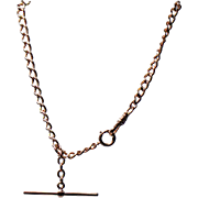 Vintage 14K Yellow Gold Watch Chain