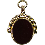 Gold Filled 1880's Gemstone Watch Fob
