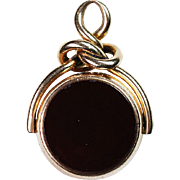 9ct Gold English Gemstone Watch Fob