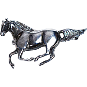 Sterling Galloping Horse Pin by WTS