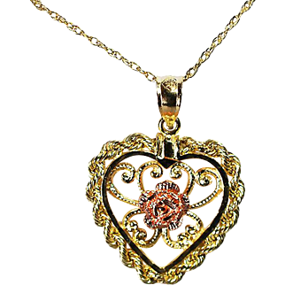14K Yellow & Rose Gold Necklace