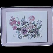 Set of Four Vintage Floral Pimpernel Placemats, England