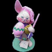Annalee Easter Bunny Artist Holding Paint Brush & Egg