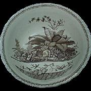 19th C. G.W. Turner & Sons English Brownware Bowl, Brazil Pattern