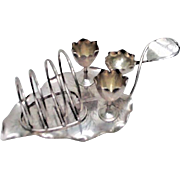 Fabulous  leaf shaped 19th c. egg and toast rack