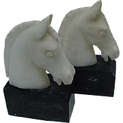 Vintage Pair of Italian Marble and Alabaster Bookends