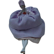 1920s Porcelain Pin  Cushion Doll, Flapper Attire