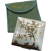 Elgin American Compact in Silver-Tone Metal, Flowering Tree Image