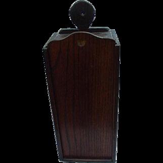 Antique Primitive Slide Lid, Hanging Candle Box
