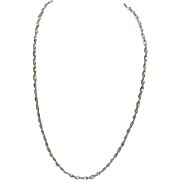 Sterling Spiral Twist Necklace, Made in Italy