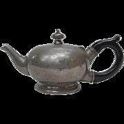 Vintage Pewter Teapot, Ebonized Wood Handle