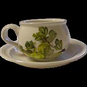 Portmeirion, England, Demitasse Cup and Saucer, Pomona Design