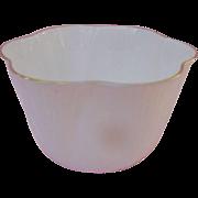 Shelley Sugar Individual Sugar Bowl, Pure White Bone China with Gold Rim, England