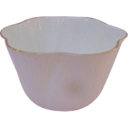 Shelley Sugar Individual Sugar Bowl, Pure White Bone China with Gold Rim, England
