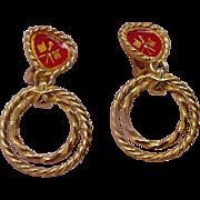 Robert Nautical Theme Clip Earrings