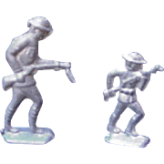 Pair of WWI Toy Metal Soldiers