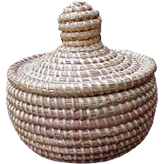 Low Country Sweet Grass Basket with Lid