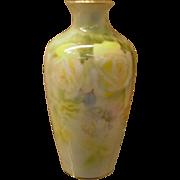 Royal Bayreuth Porcelain Vase Her Majesty Yellow Roses