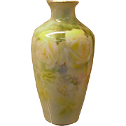 Royal Bayreuth Porcelain Vase Her Majesty Yellow Roses