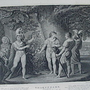 Engraving of Shakespeare's Play King Henry VI by J & J Boydell, Published 1803