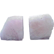 Pink Quartz Bookends