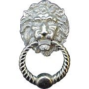 Lion Head Brass Door Knocker