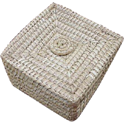 Low Country Sweet Grass Basket, Square with Lid