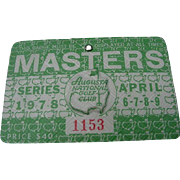 1978 Master's Golf Tournament Badge