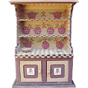 Vintage Toy Gingerbread  Hutch