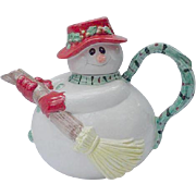Fitz and Floyd Snowman Teapot