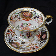 Imari Cup & Saucer w gold Decorated Borders