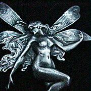 Vintage Sterling Silver Fairy Pin