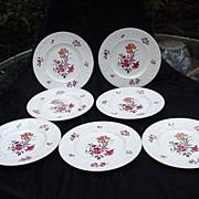 Seven Wedgwood Cotswold Corinthian Dessert/Salad Plates, England