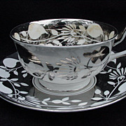 Royal Chelsea Silver Luster Cup and Saucer, England