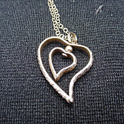 Vintage 14kt. Gold-Filled Heart Within a Heart Necklace
