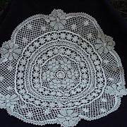 Very Vintage Crocheted Table Covering