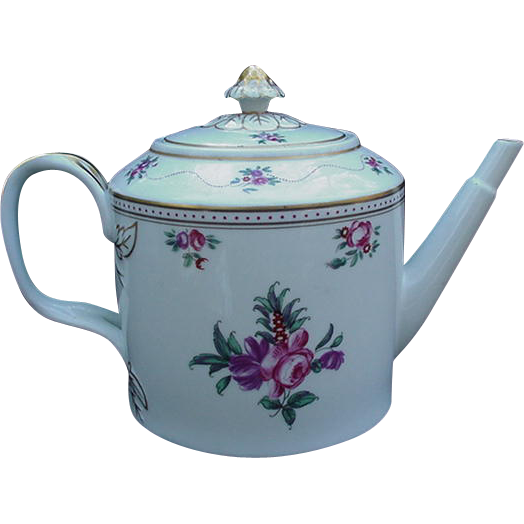 Floral Decorated Teapot By Mottahedeh For Vista Alegre