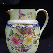 Carlton Ware Pitcher Decorated with Flowers