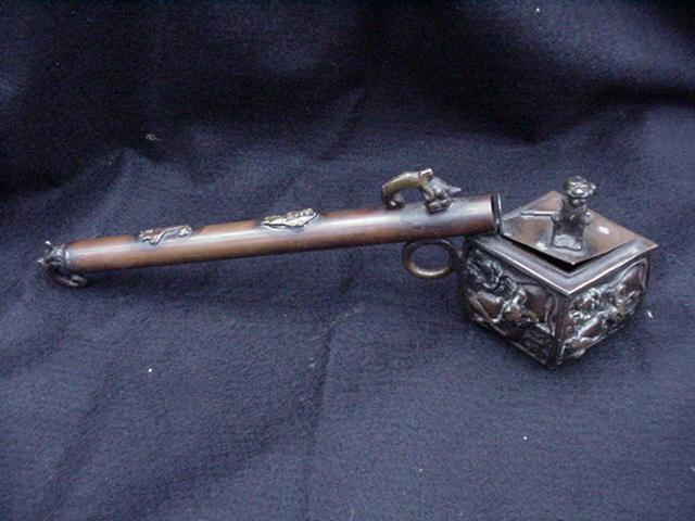 Japanese Yatate, Copper Brush Holder