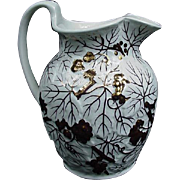 Wedgwood Lusterware Pitcher, Grape Branches and Clusters