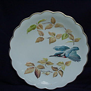"Royal Worcester ""The Birds of Dorothy Doughty Dessert Plates"", Kingfisher & Autumn Beech"