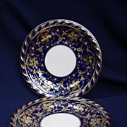 "12 Spectacular Cauldon Ltd., England, Cobalt and Gold 10"" Plates"