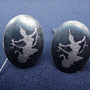 Vintage Sterling Cuff Links, Siam