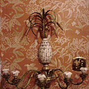 Vintage Florentine Wall Scone, Pineapple Motif, Five Candleholders
