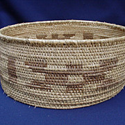 Coiled Construction Basket with Geometric Images