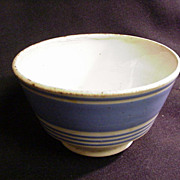 Blue Banded Kitchen Bowl, Wide and Narrow Bands