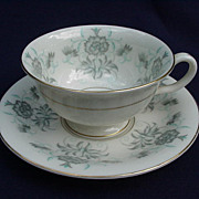 Castleton China Cup and Saucer, Caprice Pattern