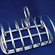 English Silverplated Toast Rack